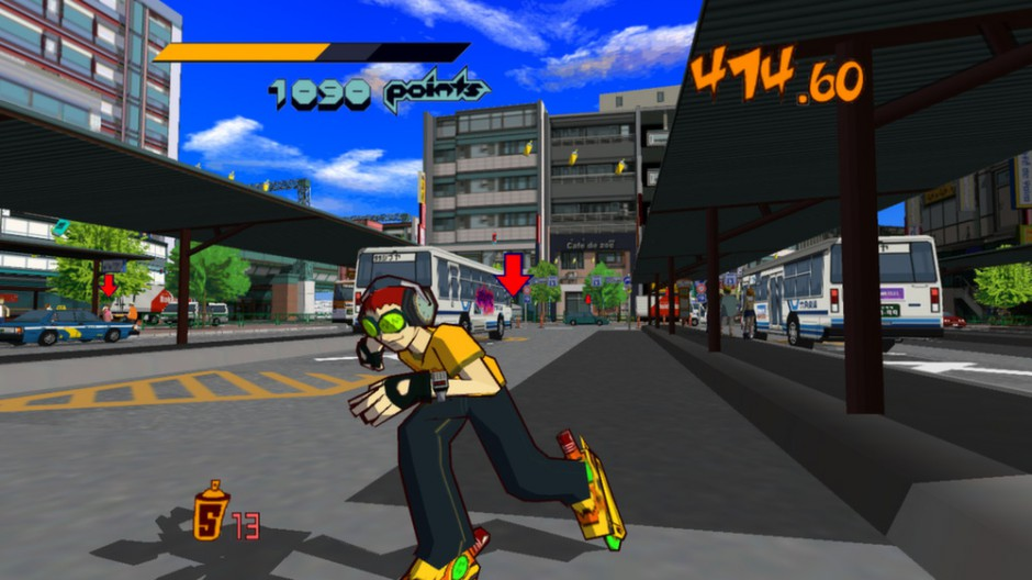 Jet Set Radio gameplay
