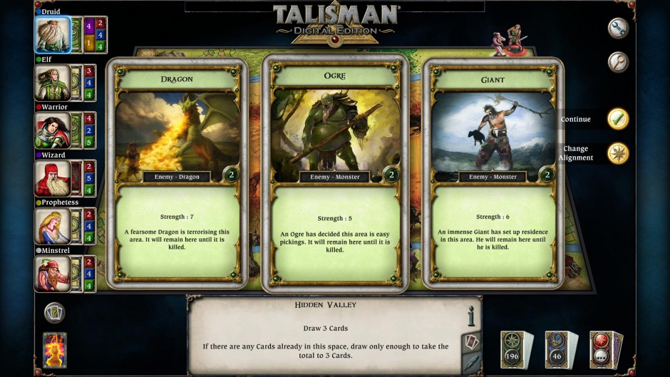 Talisman gameplay