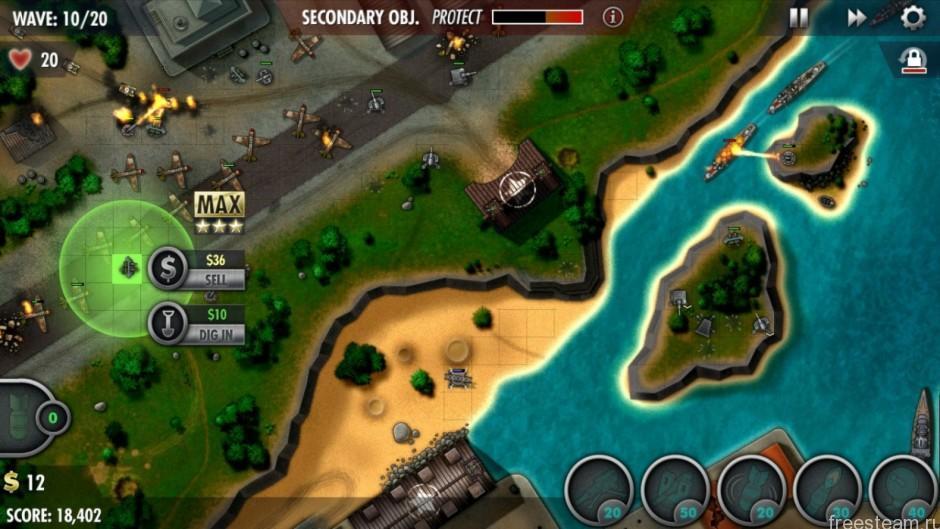 iBomber Defense Pacific gameplay